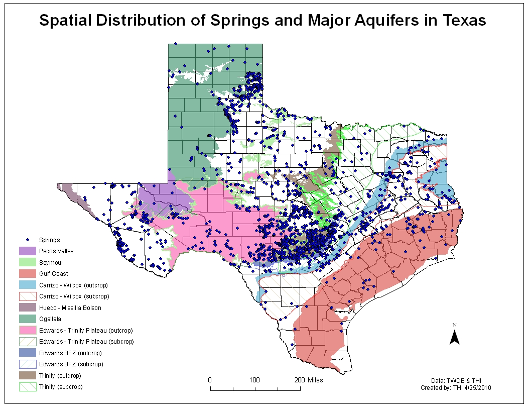 Map Of Natural Springs In Texas